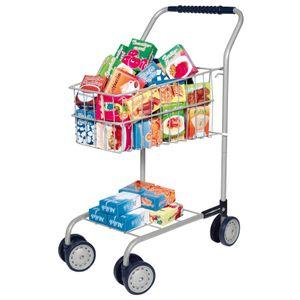 Einkaufswagen mit Inhalt