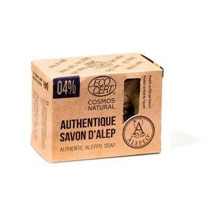 ALEPEO | Aleppo Seife | Naturseife mit 4% Lorbeeröl für Körper und Haar | Vegan, Handgemacht, ohne Palmöl, ohne Plastik | ECOCERT COSMOS NATURAL