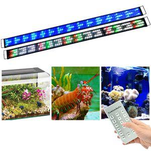 60-80cm Dimmbar LED Aquarium Beleuchtung mit Zeitsteurung Aquarium Lampe Fisch Tank Süß/Meerwasser voll Spectrum Reef Coral Fish Wasserpflanzen Aquariumleuchte Aufsetzleuchte