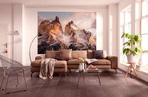 "Komar Fototapete ""Torres del Paine"", braun/blau, 254 x 184 cm"