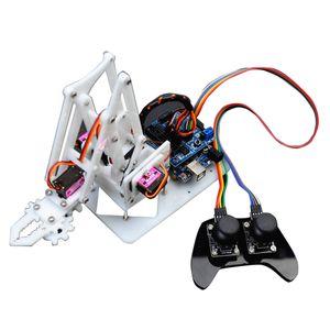 Roboter Arm Bausatz: Baukasten Fernsteuerung DIY 4-DOF PS2 Roboterarm mit 4 Servos & Mainboard