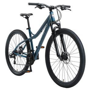 BIKESTAR Hardtail Aluminium Mountainbike 29 Zoll, 21 Gang Shimano Schaltung mit Scheibenbremse | 18 Zoll Rahmen MTB Erwachsenen- und Jugendfahrrad | Blau & Grau