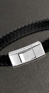 Lederarmband Herren Armband schwarz silber Lotus Style LS1122-2/1 21 cm