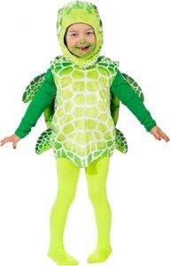 O5037-104 grün-weiß Kinder Mädchen Junge Schildkröten Weste-Kostüm Gr.104