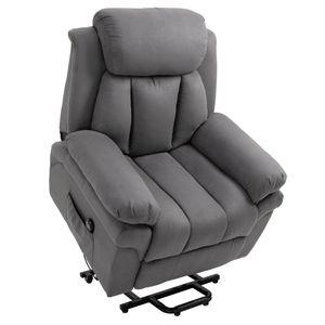 HOMCOM Elektrischer Fernsehsessel Aufstehsessel Relaxsessel Sessel mit Aufstehhilfe, Grau, 96L x 93B x 103H cm