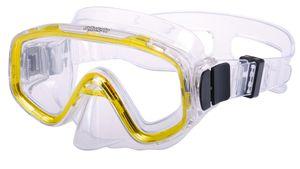 AQUAZON FUN Junior Kids Schnorchelbrille, Taucherbrille, Schwimmbrille, Tauchmaske für Kinder,  von 3-7 Jahren,  sehr robust, tolle Passform, Farbe:gelb transparent
