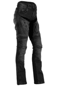 BULLDT Damen  Motorradjeans Motorradhose Denim Jeans Hose Futter Abriebfest aus Aramidfasern Jeans inkl. Protektoren, Jeansgröße:W34 / L31