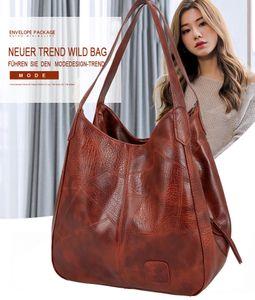 Handtaschen, Vintage Womens  Designer Luxus Handtaschen Frauen Schulter Taschen Weibliche Top-griff Taschen Mode Marke Handtaschen, Braun