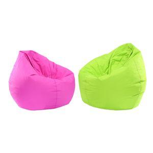 2 Stücke Wasserdichte Kinder Sitzsack Abdeckung Spielzeug Speicherorganisator Grün \\u0026 Pink