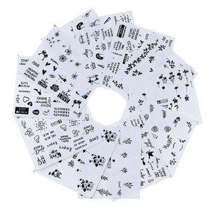 12 Blatt Nagel Sticker Nagelkunst Aufkleber Nägel Abziehbilder Nail Art Kleber für Körperkunst, Taschen, Tische
