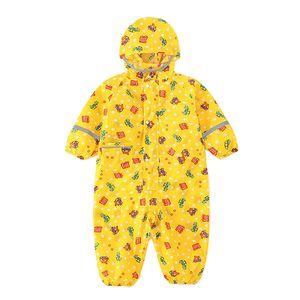 Kinder-Regenanzug Einteiliger Kinder-Regenanzug Mit Kapuze Regenmantel Gelb S.