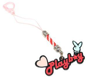 Playboy Handyanhänger Herz & Bunny rot / schwarz