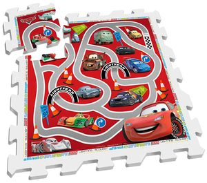 Disney Bodenpuzzle Cars rot / weiß 9-teilig