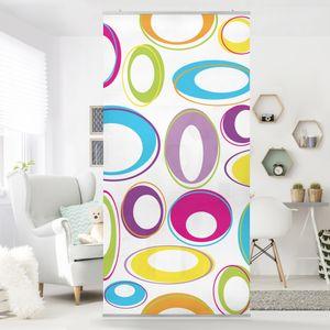 Raumteiler Kinderzimmer - Happy Eggs 250x120cm, Aufhängung:ohne Halterung
