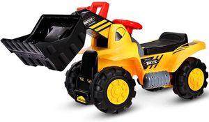 GOPLUS Bulldozer Kinderfahrzeug, Kinderauto Kinder mit Stauraum, Radlader Kinderauto mit Hupfunktion, mit Umkippen-Schutz, Spa? beim Zusammenbauen und Schrauben, für Kinder ab 3 Jahre