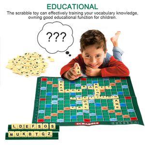 Scrabble Spielzeug Scrabble Bord Spiel Familie Kinder Erwachsene Pädagogisches Spielzeug Puzzle Spiel Spielzeug Lustige Spiel Spielzeug Puzzle Geist Gehirn Spiel