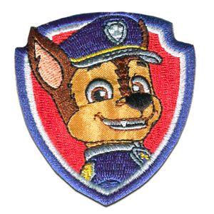 Paw Patrol © CHASE 2 - Aufnäher, Bügelbild, Aufbügler, Applikationen, Patches, Flicken, zum aufbügeln, Größe: 7 x 6 cm