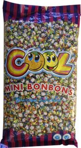 Cool Mini Bonbons 4 fach sortiert Wurfmaterial Fasching 3000g
