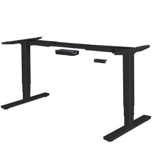 AMSTYLE® elektrisch höhenverstellbares Tischgestell schwarz Gestell mit Memory Funktion | Schreibtischgestell stufenlos höhenverstellbar von 63 - 128 cm
