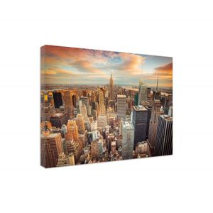 Leinwandbild, Sonnenuntergang über new york city (I_8187), 120x80 cm