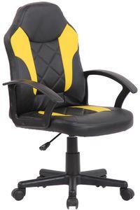CLP Kinder Bürostuhl Tafo höhenverstellbar, Farbe:schwarz/gelb