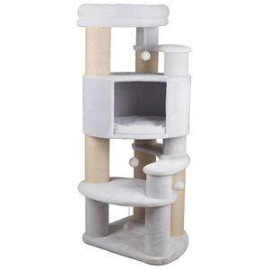 TRIXIE Zita, Cat scratching tower, Freistehend, Weiß, Sisal, 640 mm, 1470 mm