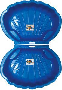 thorberg 2x blaue Sandbox Sandkasten Sandmuschel Planschbecken groß 108x79cm XL
