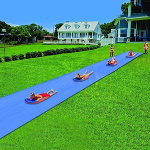 NEUFU Wasserrutsche, 8 x 1.5M Wasserrutschmatte Outdoor Wasserspielzeug Outdoor Garten Rasen Wasser Rutsche für Kinder