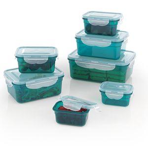 Frischhaltedosen Set Klick-It Gefrierdosen Lunchbox Brotdose 7 Stück grün