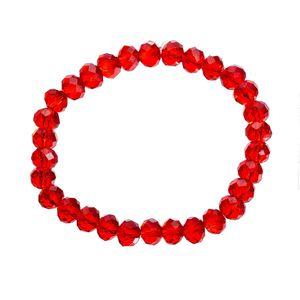 Melady Perlenarmband 30beads*8mm Rot Glas Rund Perlen Armband Damen Armbänder Damenschmuck