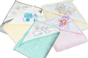 Kapuzenhandtuch Babyhandtuch 80x80cm 100% Baumwolle Tega Baby ® Viele Motive, Motiv:Eule - weiß