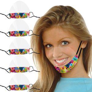 5Pc Smile Face Maske Mit Clear Vinyl Visible Expression Lippenlesemaske