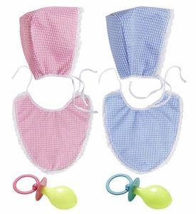 Baby Set 3teilig für Erwachsene rosa