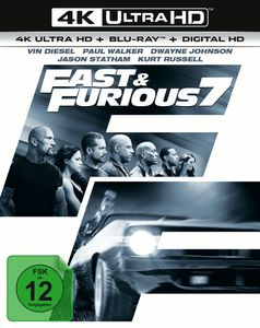 Fast 7 & the Furious (UHD+BR) E.E. 2Disc Min: 140DD5.1WS    Extended Version