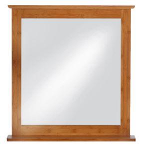 Bambus Spiegel mit Ablagefläche,67 x 70 x 12 cm