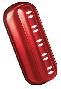 Zenker Stollenbackform 31 cm Sparkling Christmas, hochwertige Stollenform mit Antihaftbeschichtung für kinderleichtes Backen, Backform für Christstollen zum selber machen (Farbe: Rot)