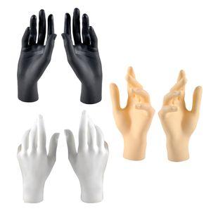 6 Stk. Weibliche Schmuckhand Schmuckhalter Ringhalter, Schmuckständer aus Hochwertigem PVC-Material, Langlebig