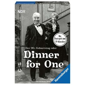 RAVENSBURGER Erwachsenenspiel Der 90. Geburtstag oder Dinner for One Partyspiel
