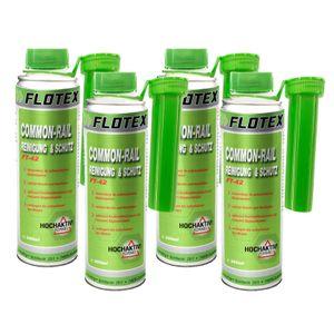 Flotex Diesel Common-Rail Reinigung & Schutz, 4 x 250ml  Systemreiniger und Schutz Additiv für Dieselmotoren