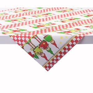 Sovie HOME Tischdecke Lilo aus Linclass® Airlaid 80 x 80 cm, 1 Stück - Mitteldecke Weihnachten Wichtel-Motiv