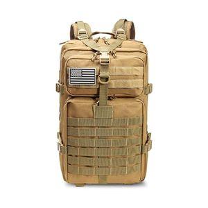 Großer Bundeswehr Rucksack 45l in Coyote Tan (Beige), Militär Kampfrucksack, Molle Army 3-DayPack, US Assault Pack, BW Armee Outdoor Tasche