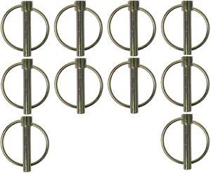 10 x Klappsplint 8 mm mit Ring Deichsel Bordwand Klappstift Anhänger BWI