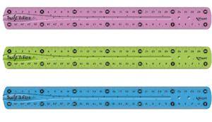 Maped Twistn Flex 30 cm, Blau, Grün, Pink, PVC, 300 mm