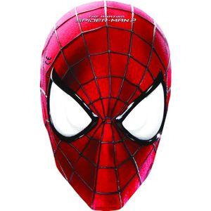 6 Marvel The Amazing Spiderman 2  Kinder Geburtstag Papier Masken mit Gummi