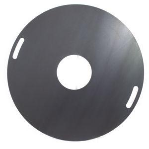 Feuerplatte 100cm Stahl 8mm mit Griffmulden für Feuertonnen & Kugelgrills Grillplatte Plancha BBQ #97