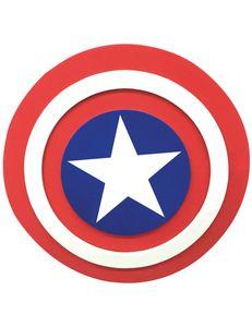 Captain America Schild für Kinder weiss-rot-blau 30 cm
