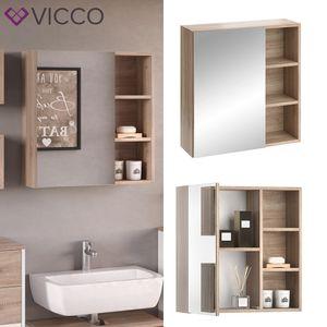 Vicco Spiegelschrank SENYO Weiß Sonoma Eiche Spiegel Badmöbelset Badspiegel