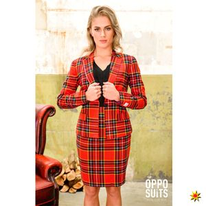 OppoSuits kostüm Lumberjackie Damen Polyester rot Größe 44