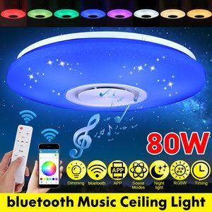 ECSEE 80W 102 LED bunte helle Fernbedienung RGB bluetooth Musik Deckenleuchte mit Fernbedienung -White control DE