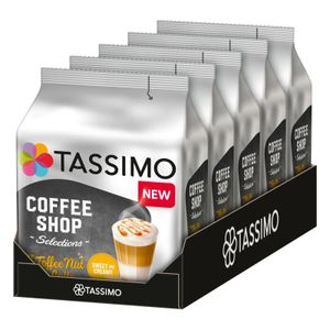 TASSIMO Coffee Shop Selections Toffee Nut Latte T Discs Kapseln 5 x 8 Getränke